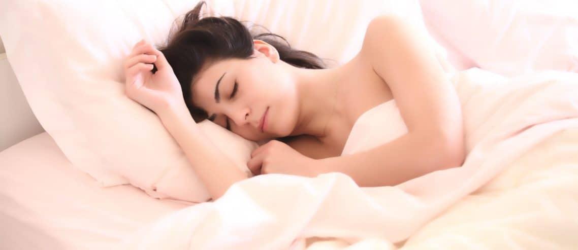 sleeping peacefully in bed