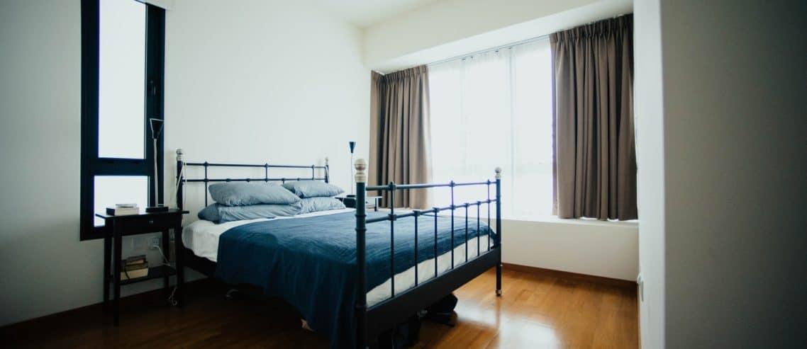 elegant bedroom setup