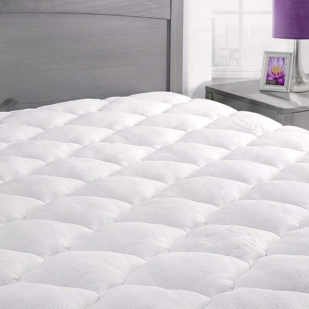 ExceptionalSheets Rayon from Bamboo Mattress Pad with Fitted Skirt