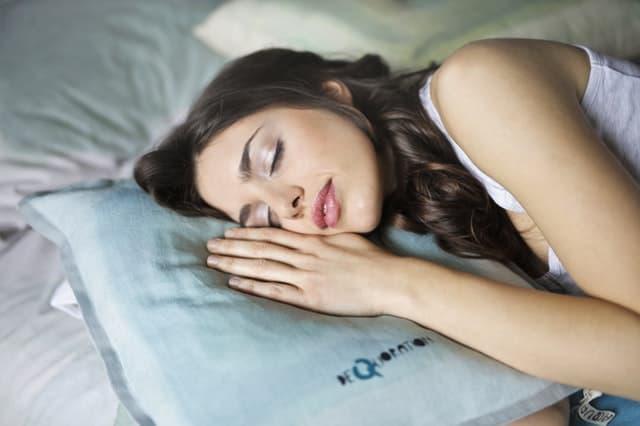 woman sleeping comfortable
