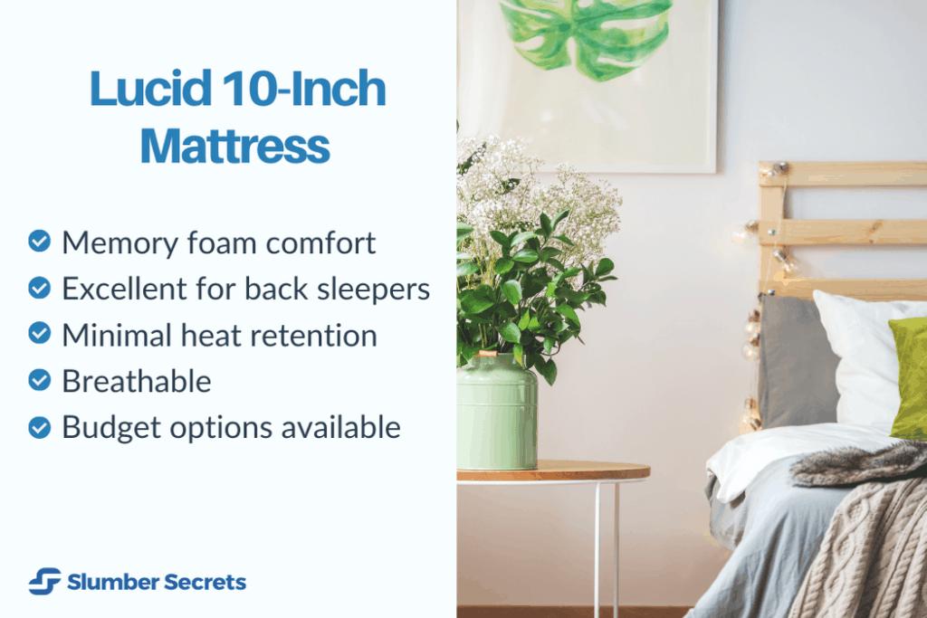 lucid-10-inch-memory-foam-mattress-features