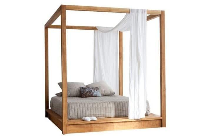 natural-wood-canopy-platform-bed